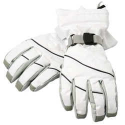 White ski gloves, with clipping path