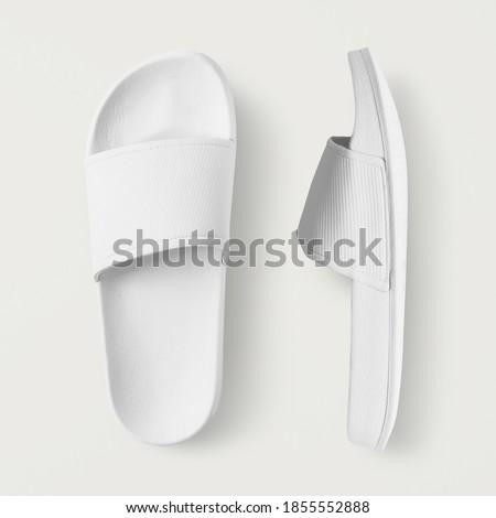 Photo of  White slide sandal summer slippers