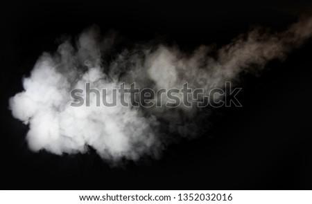 white smoke blow on black background  #1352032016