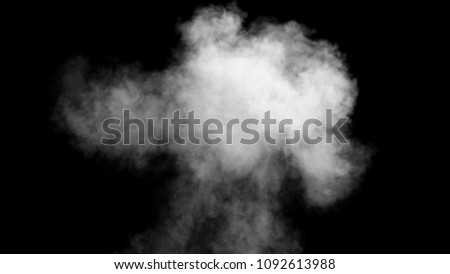White smoke collection on black background. #1092613988