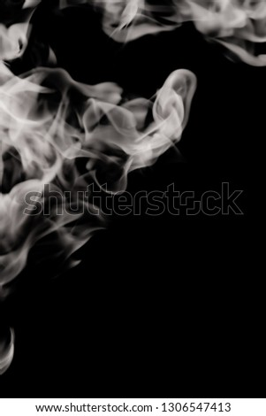 white smoke flame on a black background #1306547413