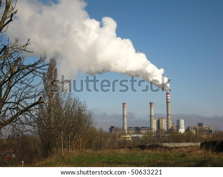 White smoke in the blue sky, the problem of ecology