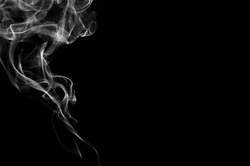 white smoke on black background,B&W