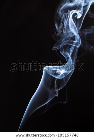 White smoke stream close up. Abstract. Whole background.