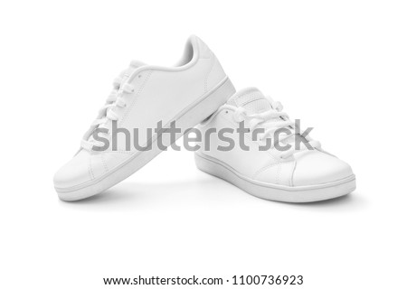White sneakers on white background, including clipping path Foto stock ©