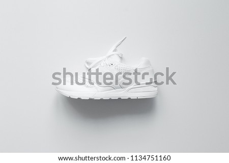 White Sneakers. Photo. Interior poster