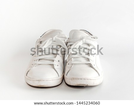 white sneakers shoes isolated on white background #1445234060