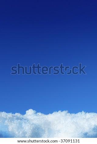 White snow and deep blue sky #37091131