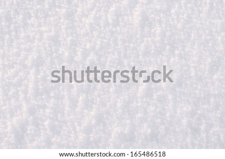 White snow surface for background.