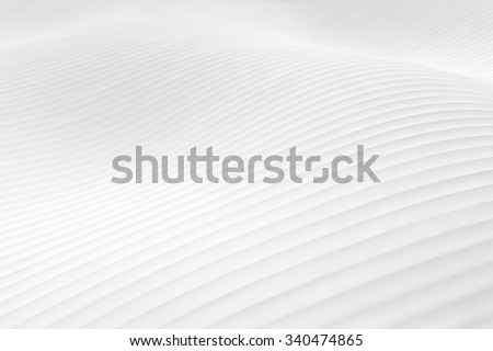 White snowy hilly surface or white dunes - wavy abstract landscape background  #340474865