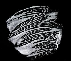 White soap foam on black background, soap bubbles, texture