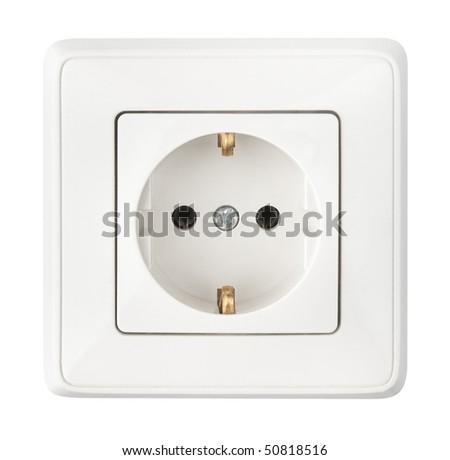 white socket isolated on a white background