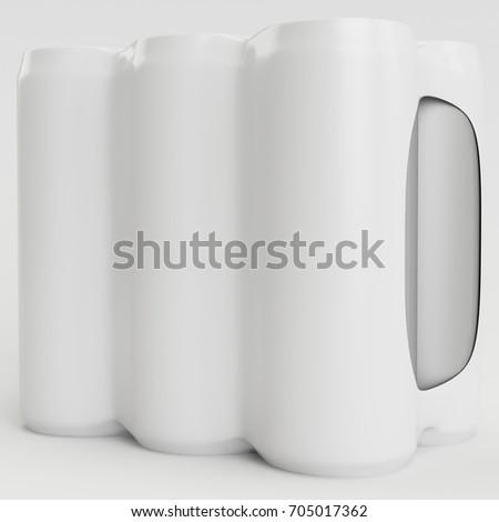 White Soda Shrinking 3D Render Side