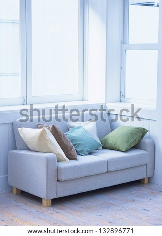 White sofa against a window