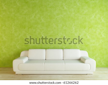 White sofa and green wall - fixed
