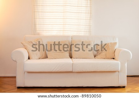 White sofa in a modern home