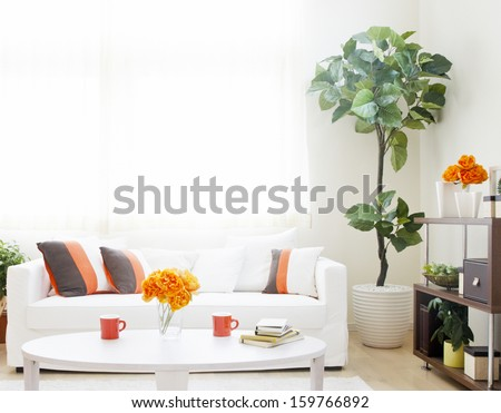 white sofa interior