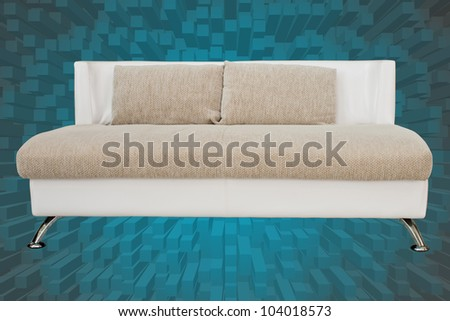 White sofa on background