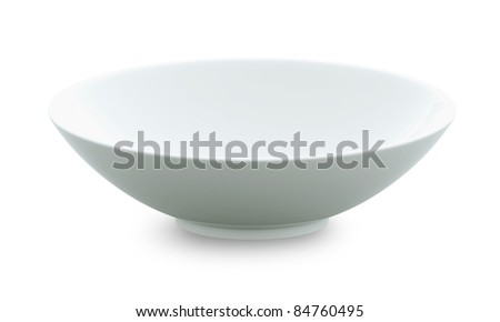 White Sphere Bowl top view on white background. Isolated 3d model