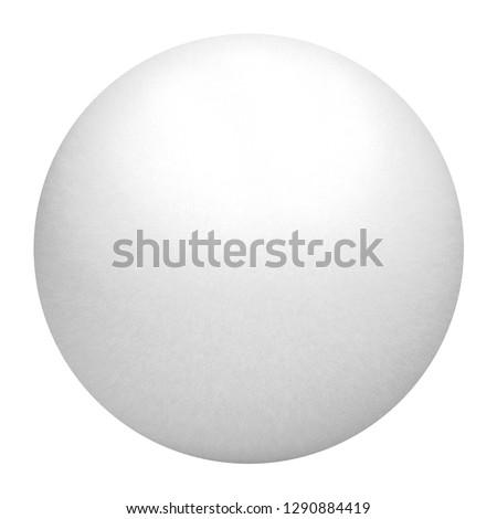 White Sphere on white background. Sphere mockup. 3d illustration