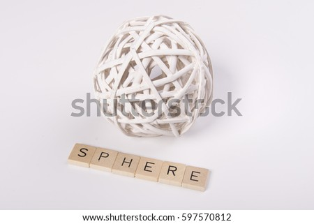 """White sphere with the word """"sphere"""" #597570812"""