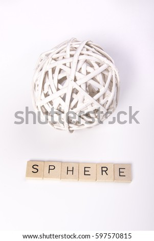 """White sphere with the word """"sphere"""" #597570815"""