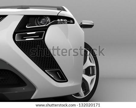 White sport car