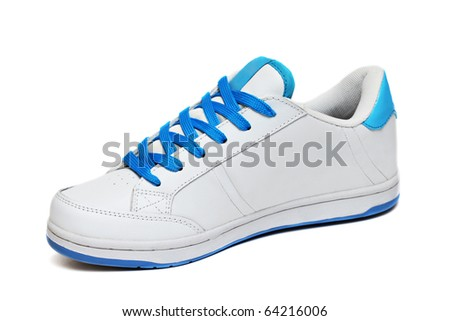 White sport shoe isolated on a white background