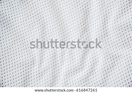 White sports clothing fabric jersey texture #616847261