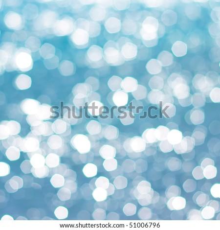 White spots on blue background - stock photo