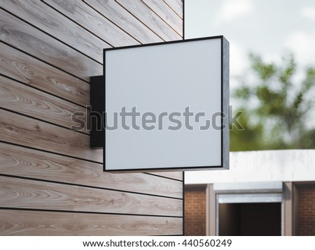 white square signboard on the...