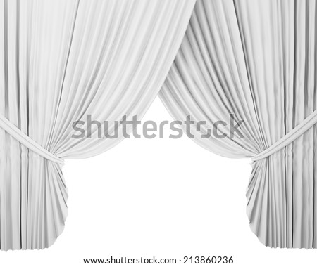 White stage background white stage curtain