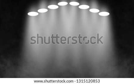 White stage . Spotlights on the floor. Isolated on black background. #1315120853