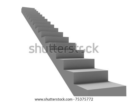 White stairs isolated on white