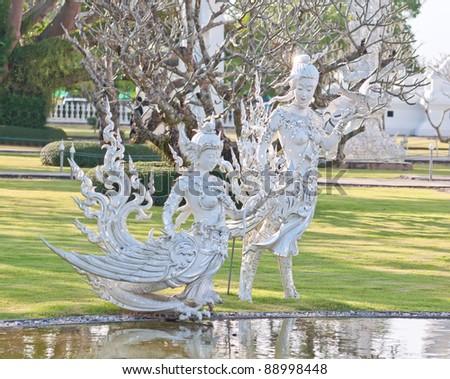 White Statue, Wat Rong Khun Chiang Rai Thailand