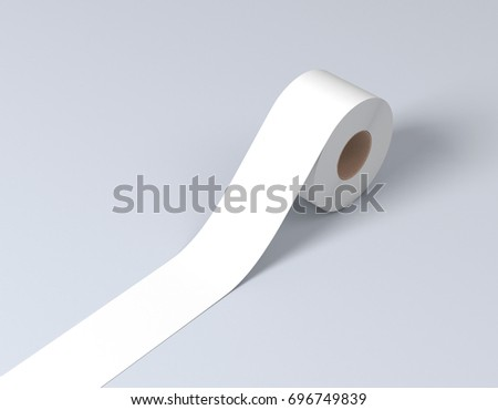 White sticky tape, scotch tape, adhesive tape 3d rendering