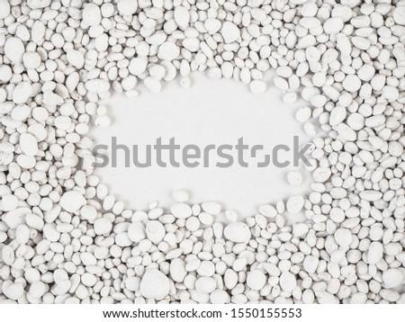 white stone  on  white background .