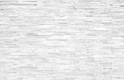 White stone wall Background texture interior Construction industry