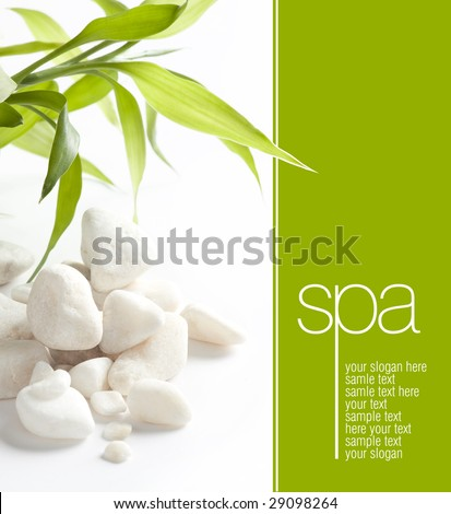 White stones and easy to remove the text - stock photo