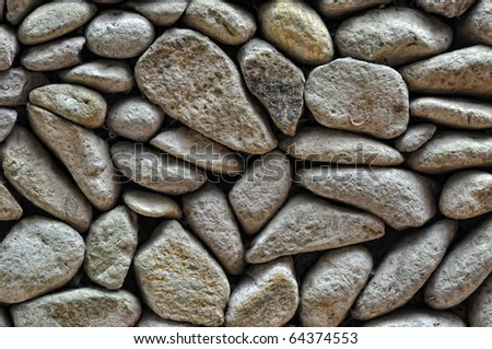 white stones on wall texture