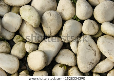 White stones texture and background