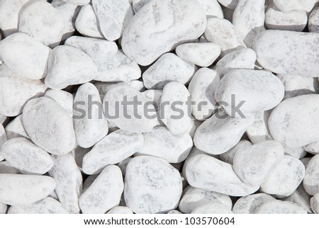 White stones with shallow depth of field