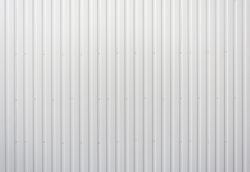 White striped iron wall