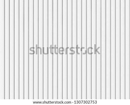 White strips lines or battens wall or fence pattern surface texture. Close-up of interior material for design decoration background. 3d abstract illustration Foto stock ©