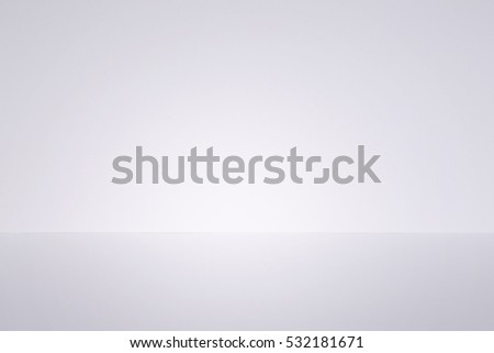 White studio background. Empty room wall and floor #532181671