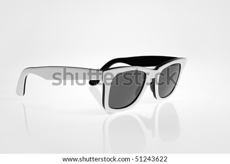 White sunglasses isolated