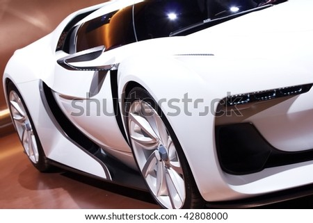 white super car design - stock photo