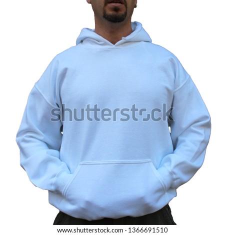 White Sweatshirt Hoodie Mens