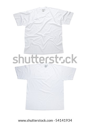 blank white t shirt template. stock photo : White t-shirt