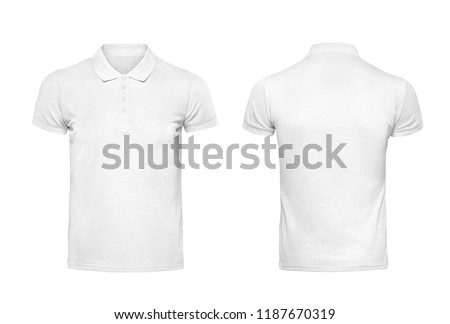 White t shirt design template isolated on white with clipping path
